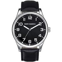 Mark Maddox orologio da uomo al quarzo con display analogico e cinturino in similpelle nero HC3005-55(Ricondizionato Certificato)