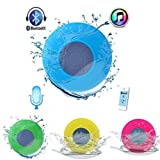 #5: Syvo BTS-06 WaterProof Bluetooth Shower Speaker With Mic Wireless Portable Stereo - Best for Bath, Pool, Car, Beach, Indoor/Outdoor Use (Color May Vary)