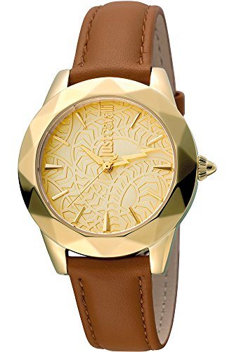 Just Cavalli Damen Analog Quarz Uhr mit Leder Armband JC1L003L0025