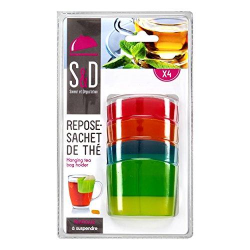 Saveur et Degustation km4091descansa bolsita de té Colgante de plástico Multicolor 5,90x 2,60x 4,50cm