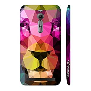 Enthopia Designer Hardshell Case 3D Lion Back Cover for Asus Zenfone 2