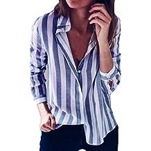 SANFASHION Bekleidung Camisas - con Botones - Liso - para Mujer
