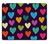liili Tapis de souris Tapis de souris en caoutchouc naturel d'image: 23022434sans coutures Wild Color avec motifs cœurs Vector