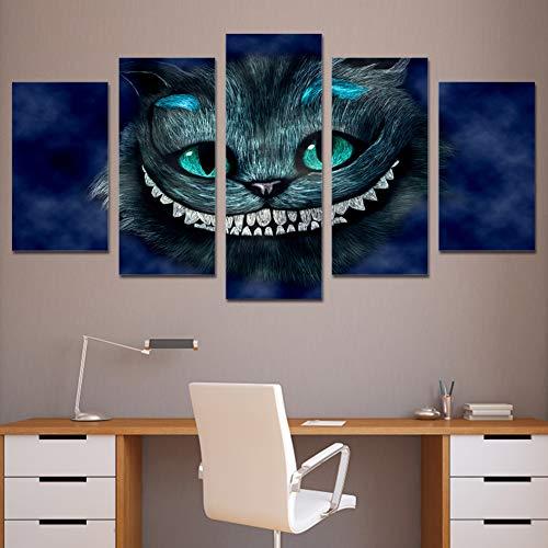 teiliges Katze in Alice im Wunderland Cartoon Bilder Poster Wandkunst Ölgemälde Modular Moderne für Wohnkultur,A,30X40X230X60X230X80X1 ()