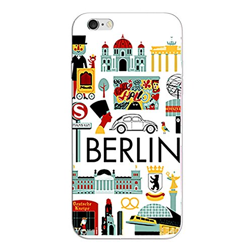 iPhone 8 Handyhülle Schutzhülle Hülle Silikon Cover Case Ultra Dünn Slim Backcover TPU transparent Berlin