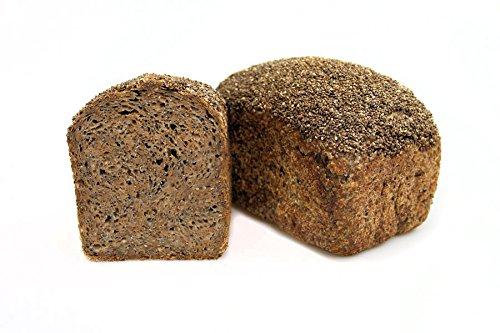 Bio Chia Brot - Dinkelkeimbrot aus gekeimten Bio Dinkel mit Chia Samen - ohne Weizen und Hefe - nährstoffreiches Dinkelbrot - Inhalt: 500 Gramm Dinkelvollkornbrot mit Chiasamen - Brot