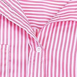 Womens est Striped Tunic Blouse, Kanpola Hot Sale Ladies Long Sleeve Loose Casual T-Shirt Short Lapel Tops Printed Button Down Shirt by Kanpola