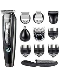 Hatteker Beard Trimmer Hair Clipper Hair Trimmer Clippers for Men Cordless Haircut Kit for Men Kids Adults LED Display USB Body Trimmer Rechargeable Wet & Dry
