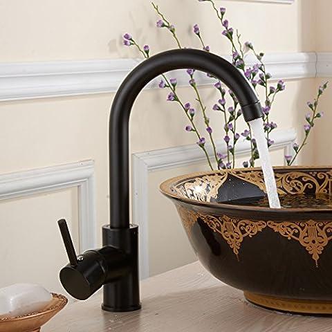 Maifeini _Kupfer Küchenarmatur Küchenarmatur Schwarze Orb Rub Farbe Wasser Schwenken