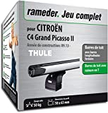 Pack Rameder barres de toit SlideBar pour CITROËN C4 Grand Picasso II...
