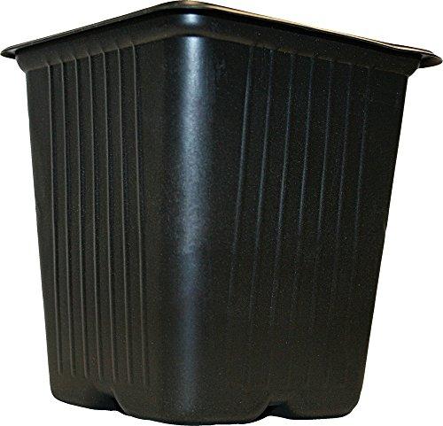 Vilmorin 3990609 Pack de 20 Godets Carrés Plastique 7 cm