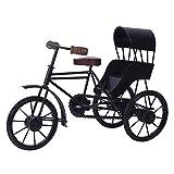 #7: CLASSIC SHOPPE wooden&wrought iron Home Decorative Metal Art Work of Miniature Rickshaw-BLACK