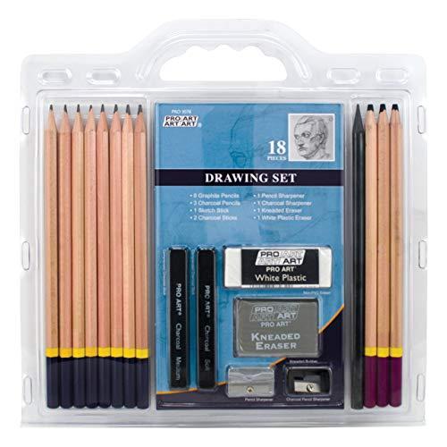 Pro-Art Zeichen-Bleistift-Set, 18-teilig
