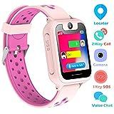 Kinder Uhren GPS/LBS Smart Watch für 3-12 Jahre alte Jungen Mädchen Kinderuhr mit SOS Kamera Spiel Smartwatch Birthday Gift (Pink)