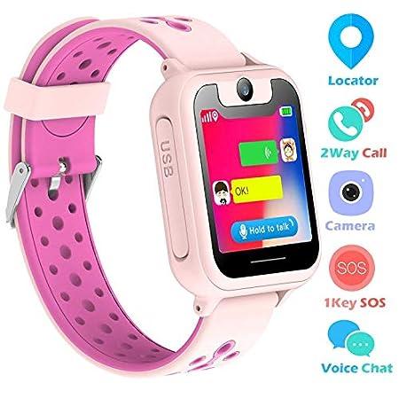 Kinder Uhren Smart Watch für 3-12 Jahre alte Jungen Mädchen Kinderuhr mit SOS Kamera Spiel Smartwatch Birthday Gift (Pink-S6)