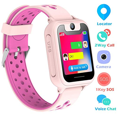 Reloj Niños Smartwatch LBS/GPS Pantalla Táctil Kids Safe Anti-pérdida SOS para Android...