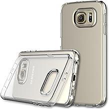 S6 Funda, JETech Slim Fit Samsung S6 Funda Carcasa con Anti-Arañazos para Samsung Galaxy S6 Case Cover (Suave Clara) - 0568
