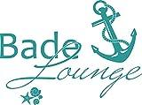 GRAZDesign 650139_57_054 Wandtattoo Bade-Lounge Anker | Badezimmer-Tattoo an die Wand/Fliesen / Spiegel (77x57cm // 054 türkis)