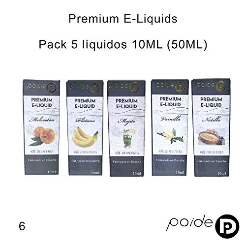 5 x 10ML Paide Premium E-Liquid - Sin nicotina - Líquido