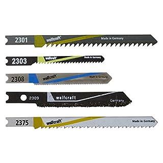 Wolfcraft 2687000 5 Stichsägeblätter u-Schaft