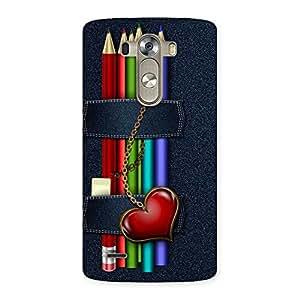 Special Denim Pencil Print Back Case Cover for LG G3