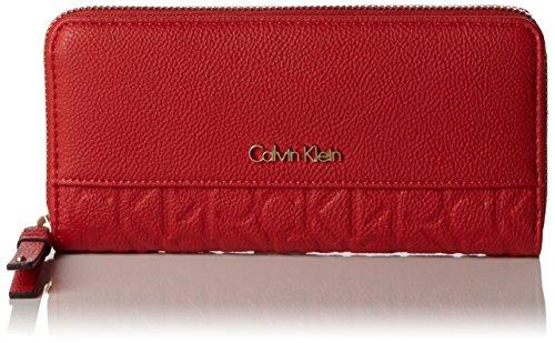 Calvin Klein JeansMISH4 LARGE ZIPAROUND - Portafogli Donna , Rosso (Rot (LIPSTICK RED 635)), 4x22x3 cm (B x H x T)