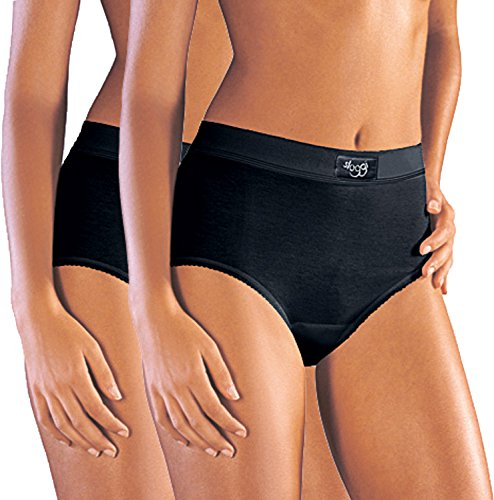 Sloggi Taillenslip double Comfort Maxi 2er-Pack schwarz Größe 44