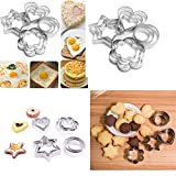AVMART Cookie Cutter 12Pcs/set Pastry Fruit Molds Stainless Steel Heart Flower Round Star Biscuit Mould Fondant Cutting Cutters