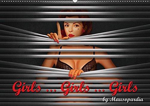 Girls ... Girls ... Girls by Mausopardia (Wandkalender 2019 DIN A2 quer): Sexy Girls im Retro Style der 60er Jahre (Artwork). (Monatskalender, 14 Seiten ) (CALVENDO Kunst)