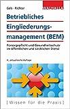 Betriebliches Eingliederungsmanagement (BEM): Fürsorgepflicht und Gesundheitsschutz im öffentlichen und kirchlichen Dienst