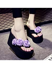 Der Sommer kommt. Hausschuhe Frauen Mode rutschhemmend Plattformen High Heel Flip-Flops neue handgefertigte Beach...