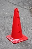 agility sport pour chiens - cône avec trous, 40 cm, rouge - 1x MZK40r