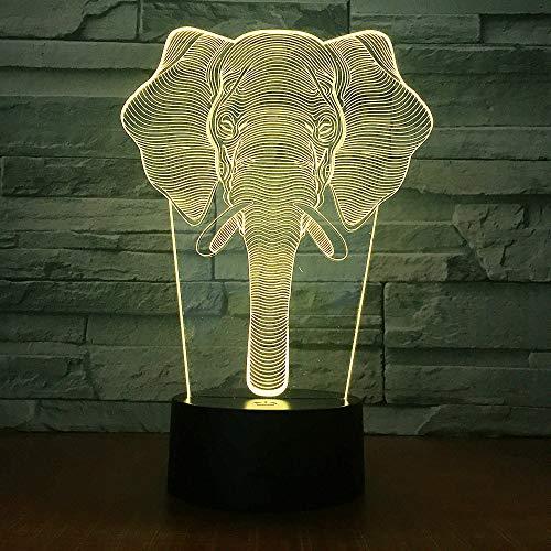 Lampe créative colorée de la chambre de nouveauté 3D Night Products, lampe créative colorée: touche à distance
