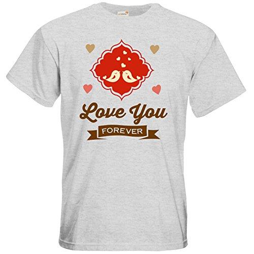 getshirts - RAHMENLOS® Geschenke - T-Shirt - Valentinstag Valentine forever Ash