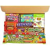 Mini caja de American Candy | Golosinas y barra de chocolate de selección en caja regalo | Surtido incluye Copa Reeses, Airheads, Charleston Chew, Jelly Belly Sours | 10 artículos de caramelos Retro