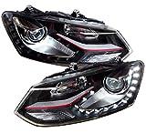 Scheinwerfer schwarz Polo 6R 6C GTI-Look Frontscheinwerfer Tagfahrlicht-Optik SWV24KGXB