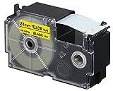 Casio XR-24YW1 - Cintas para etiquetadoras, color negro / amarillo
