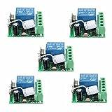 Bluelover 5Pcs Dc12V 10A 1Ch 433Mhz Drahtloser Relais-Hf-Fernsteuerungsschalter-Empfänger