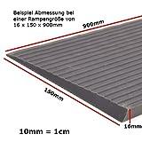 Mobilex Vollgummirampe ohne Klebstoff 8 x 80 x 900 mm