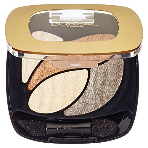 L'Oréal Paris Color Riche Quads Eyeshadow, E1 Beige Trench - Lidschatten Palette für ein intensives, sinnliches Farbergebnis - 1er Pack (1 x 2,5g) -