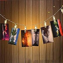 ZUOAO LED Luz Cadena Clips Fotos, 30 Clips de Fotos, 3M 30LED, Cadena de Luz para el par de Fotos, Notas, Creaciones, Foto Clip de Lámpara Alimentado por Batería (no incluido) Luz Blanca Cálida