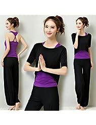 Juegos de ropa de Yoga de la mujer , l , black + white + black