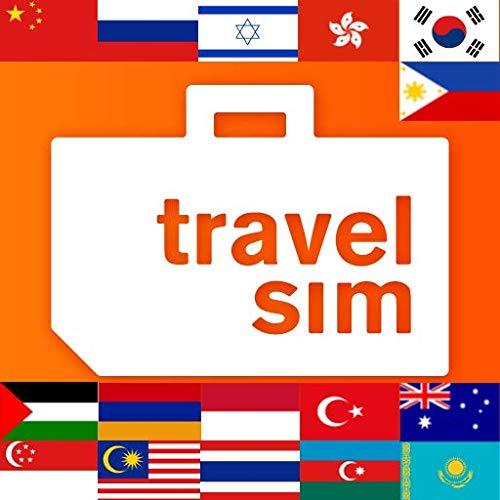 Sim-Karte für Asien-Australien, Armenien, Aserbaidschan, China, Georgien, Hongkong, Indonesien, Israel, Kasachstan, Malaysia, Philippinen, Russland, Singapur, Südkorea, Thailand, die Türkei-1GB/30Tage