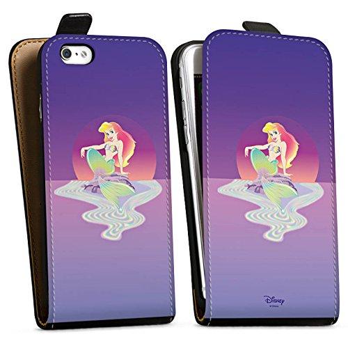 Apple iPhone X Silikon Hülle Case Schutzhülle Disney Arielle die Meerjungfrau Geschenke Merchandise Downflip Tasche schwarz