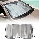 NOVSIGHT Windscreen Sunshade Car Front Window Sun Shade Windshield Snow Ice Frost Sun UV Dust Water Resistent (50 x 23.82 inches)