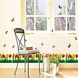 Weaeo Stilvolle Schlafzimmer Wohnzimmer Tulip Sockelleisten Line Wand Befestigung Entfernen