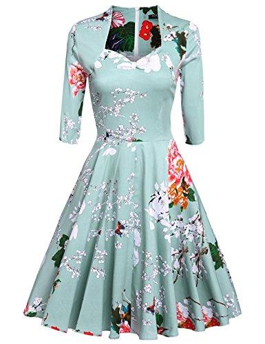 Acevog Mujer Vintage Vestido Años 60s Audrey Vestido