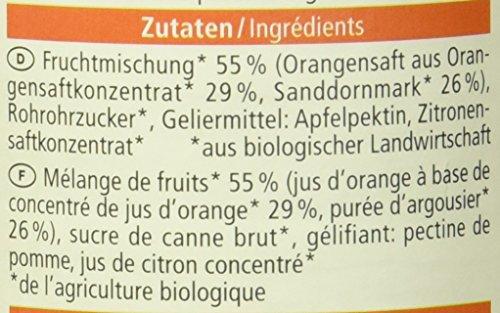 Alnatura Bio Fruchtaufstrich Sanddorn-Orange, vegan, 6er Pack (6 x 250 g) - 3
