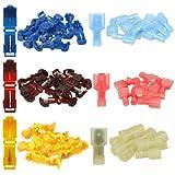 Set: 30 T-Abzweigverbinder + 30 Flachstecker (je 10x blau - 10x rot - 10x gelb)