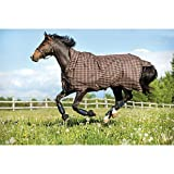 Pferde Winterdecke Horseware Rhino Wug (Regendecke) 160cm ohne Füllung Chocolate with Cream check with Chocolate & Cream